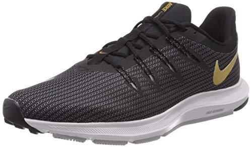 Nike Wmns Quest, Zapatillas de Entrenamiento Mujer, Multicolor (Black/Metallic Gold/Provence Purple 006), 41 EU