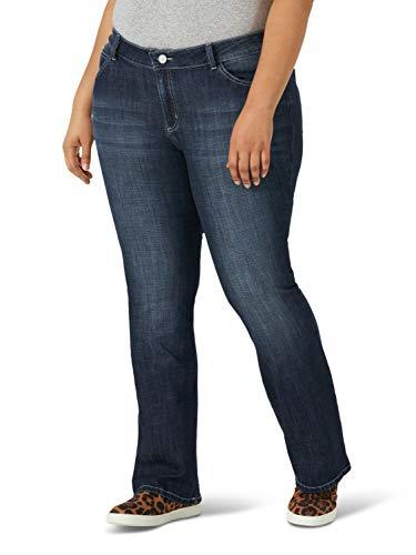 Wrangler Women's Plus Size Western Rise Boot Cut Jean, Mid Wash, 20W x 34L