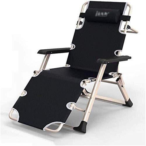 Aoyo - Cesta sdraiata da spiaggia, pieghevole, senza peso, regolabile con braccioli, per sedie a sdraio, da giardino