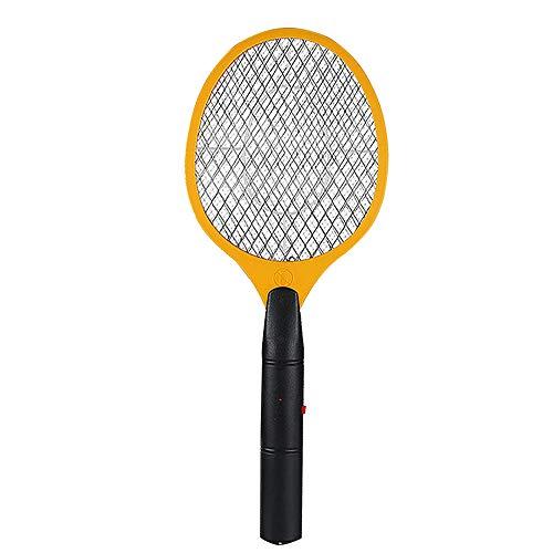 FJROnline Mosquito Killer Raqueta Recargable Mosquitera Estante Mosquito Eléctrico Mosquito Swatter Instant Insect Wasp Pest Mata Bug (Amarillo)