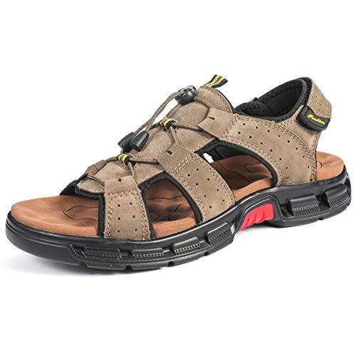 Camfosy Mannen Flat Athletic Sandalen Zomer Outdoor Wandelschoenen Open Tenen Trekking Sandalen Comfort Off-Road Sandalen Casual Wandelschoenen