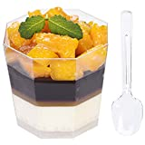 """Package - Comes with 100 plastic cups & 100 plastic spoons, offers a huge savings when you buy this sized pack. This Cups are stackable for easy storage and space saving Dimensions - Capacity: 5.4 ounces (160ml), Cup size: 3"""" top side x 2-1/4"""" bottom..."""