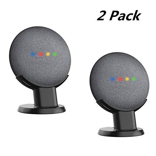 SPORTLINK Desk Mount for Google Home Mini and Nest Mini (2nd gen), Improves Sound Visibility and Appearance, Smart Speaker Pedestal, Table Stand for Google Home Mini (2 Pack-Black)
