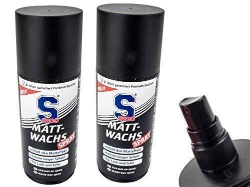 2 X S100 Matt-Wachs Spray Politur für Matte Lacke und Folie