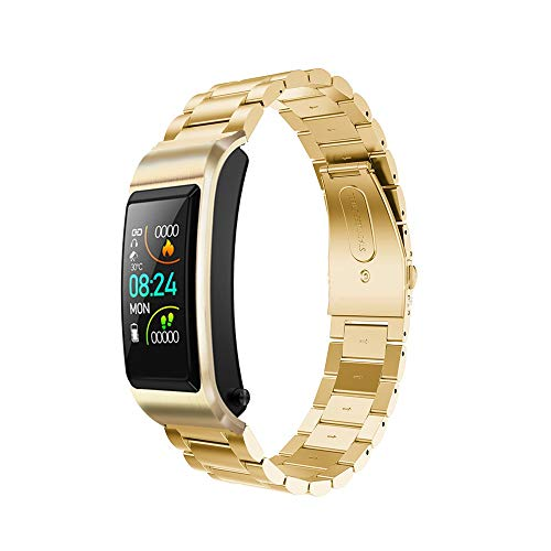 LHTCZZB AI Wake Smart Watch Full Touch Screen Bluetooth Watch Fitness Management Heart Rate Monitoring Watch Exercise Mode Long Lasting Battery Suitable for Women and Men (Blue) (Color : King Kong)