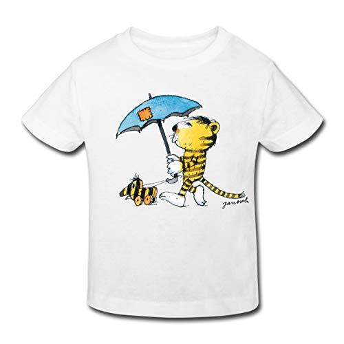 Janosch Kleiner Tiger Tigerente Mit Schirm Kinder Bio-T-Shirt, 98-104, Weiß