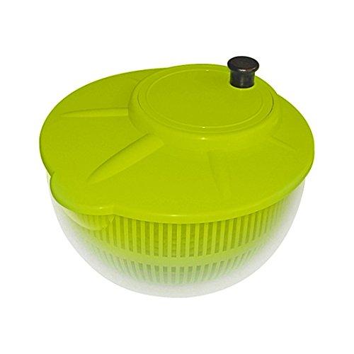 Plast Team Salatschleuder, Polypropylen, Polypropylen, Neongrün (Lime Punch), 30 x 30 x 30 cm