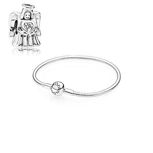Pandora Geschenkset Starterset 792010CZ (Liebesengel Charm) + 590728-19 19cm (Armband)