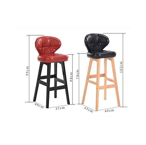 GBX Taburete Multifuncional para el Hogar, Sillas/Taburetes, Sillon Decorado de Bar/Restaurante de Madera Maciza, Silla/Taburete de Ambiente de Alta Gama, a,Mi