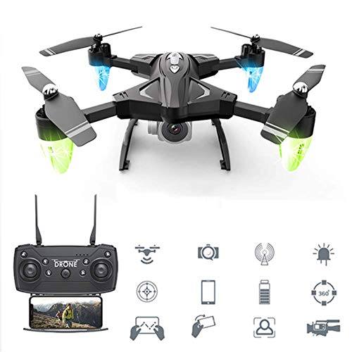 SHANGYAN Best Drone RC Quadcopter WiFi FPV 1080P HD Camera with Altitude Hold Voice Control G-Sensor Trajectory Flight 3D Flips One Key Operation