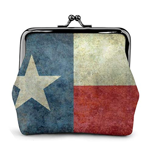 Texas The Lone Star State Little Monedero Walle con hebilla exquisita de piel sintética para mujeres y adolescentes