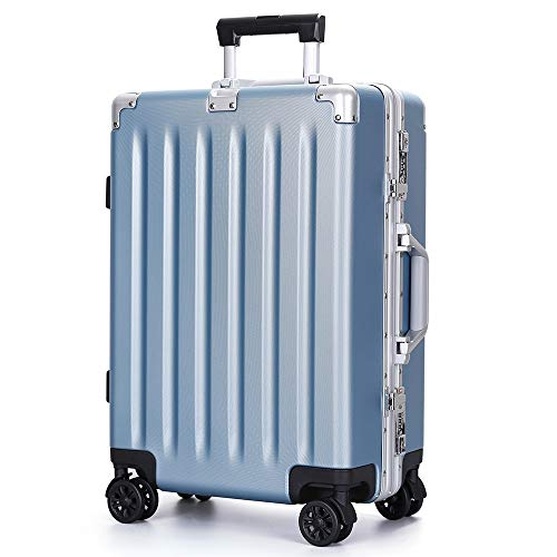 Yamyannie Trolley Suitcase Luggage Suitcase Trolley Suitcase TSA Locks Aluminum Frame Scratchproof PC Carry On Luggage Travel Bag With Spinner Wheels 20 Inch 24 Inch 28 Inch for Holiday
