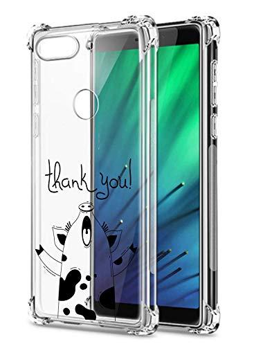 Suhctup Funda Compatible con Xiaomi Redmi Note 4X/Note 4 Antigolpes,Carcasa Bumper Transparente [Protección Esquina] Silicona TPU Gel Ultra-Delgado Moda Dibujo Anti-Choque Estuche Case,Cerdo