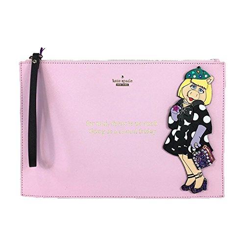 Kate Spade Disney Miss Piggy 'Fancy Friday' Britta Wristlet, Cherry Blossom