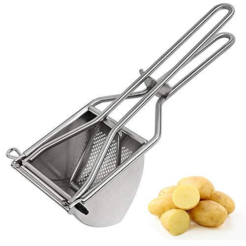 TOPHOME Kartoffelstampfer Edelstahl Kartoffel Stampfer Babynahrung Sieb Drücken Sieb Zitruspresse Gemüse Kartoffelpresse für cremigen Kartoffelbrei und Lebensmittel Rezepte Püree Obst Maker