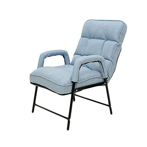 Fauteuil inclinable Chaise Pliante, Chaise de Bureau, Adaptée À La Résidence Étudiante En Dortoir Informatique, Fauteuil Inclinable Paresseux Chaises de camping (Color : 1)