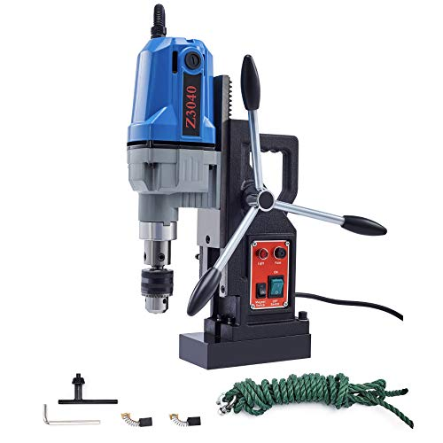 Valens 1100W Taladro Magnético de 40mm Taladro Magnético Portátil 12,000 N Taladro Magnético de Columna para Uso Industrial o para Hogar Electric Magnetic Drill (Taladro Magnético)
