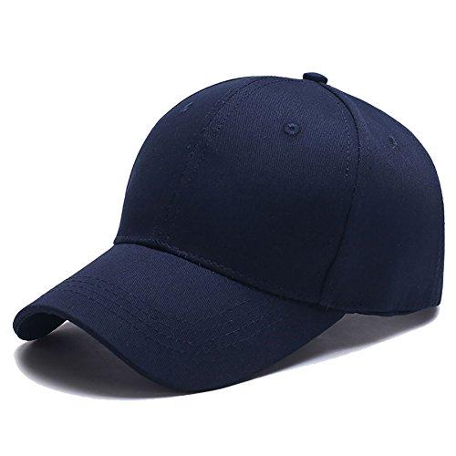 Yidarton Unisex Kappe Outdoor Baseball Cap Verstellbar Erwachsenen Mütze Casual Cool Mode Baseballmütze Hip Hop Flat Hüte (Marine)