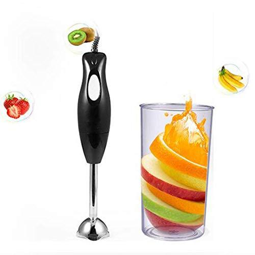 AJH staafmixer met bekerglas, afneembare roestvrijstalen handmixer, ergonomisch handvat, voor babyvoeding, sauzen en sappen