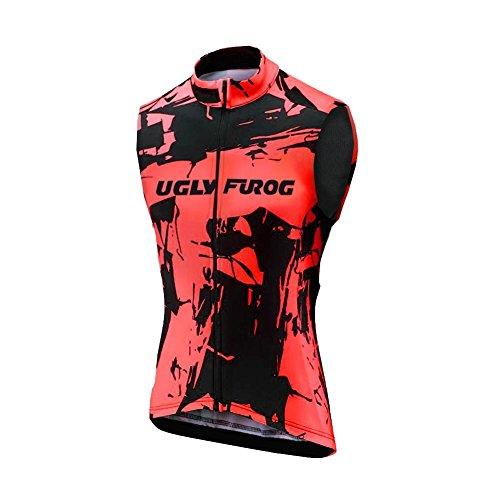 Uglyfrog sans Manches de Cyclisme pour Hommes Course Maillot Cyclisme Triathlon Vélo Vêtements Vest Eté Triathlon Gilet MJX03