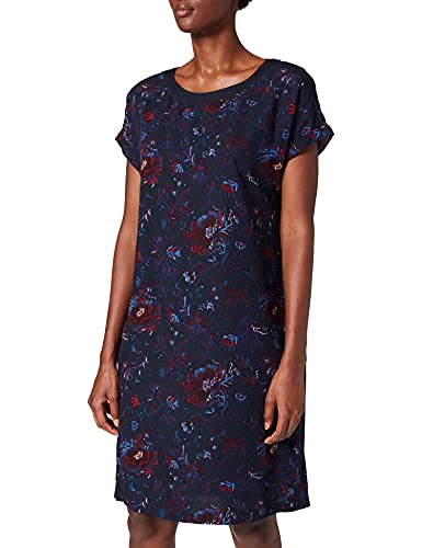 Cecil Damen 142997 Kleid, deep Blue, XXL