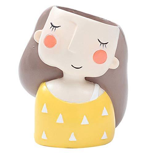 Gulin Guirnalda de Plantas suculentas Garland Girl, Macetero de niña Linda, Adecuado para el Regalo de cumpleaños de Home Garden Bonsai Pots