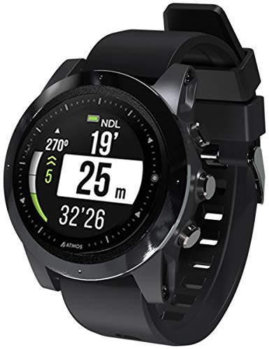 ATMOS Mission One ISO Smart Watch Dive Computer Black/Black