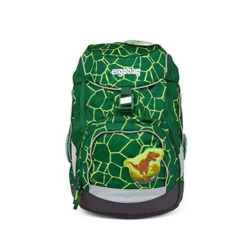 ergobag pack Set - ergonomischer Schulrucksack, Set 6-teilig - BärRex - Grün