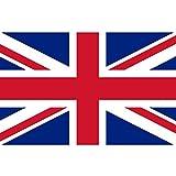 Q&J Bandera Oficial del Reino Unido - Medidas 150 x 90 cm. - 100% Polyester para Exterior e Interior