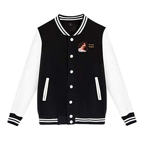 Uoliicoze Unisex Lustiges Frank Zappa Logo Baseball Uniform Jacke Mantel Pullover Plus Samt M.