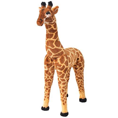 vidaXL Stehendes Plüschspielzeug Giraffe XXL Stofftier Kuscheltier Plüschtier