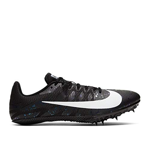 Nike Zoom Rival S9 Track & Field Spike Shoes (Black/White/Indigo Fog, 6.5)