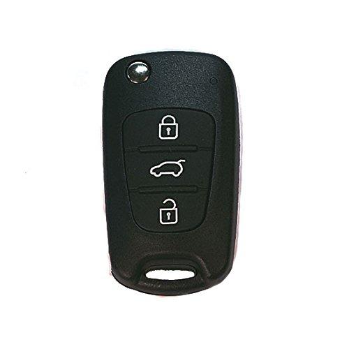 Jurmann Trade GmbH® 1x Ersatz Schlüsselgehäuse - 3 Taste Autoschlüssel kiaks06 Klappschlüssel mit Rohling Schlüssel Fernbedienung Funkschlüssel Neu Gehäuse ohne Elektronik