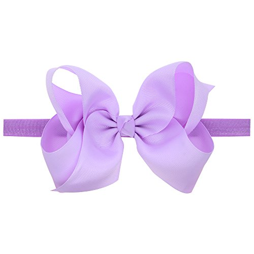 LD DRESS Baby Girls Infant Headbands With Kids Hair Bows(16) (Lavender)