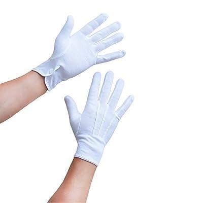 Oblique-Uniuqe® Weiße Handschuhe Baumwolle