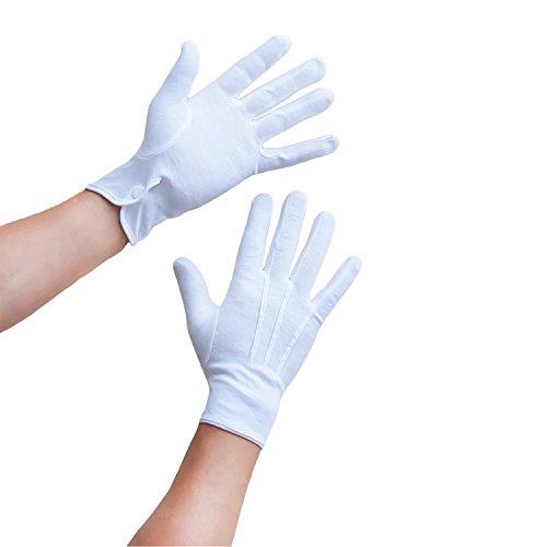 Oblique-Uniuqe® Weiße Handschuhe aus Baumwolle für Herren