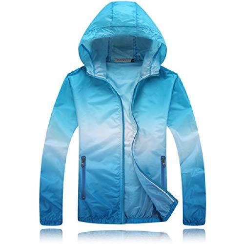 Loeay wasserdichte Herren-Kletterjacke für den Außenbereich Leichte, schnell trocknende Herren-Windjacke für den Außenbereich Sonnenschutz-Mantel mit Kapuze 1 XL