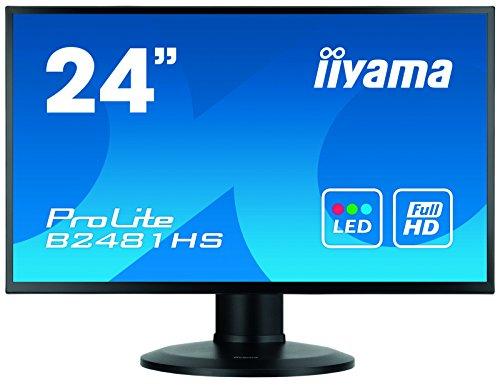 "iiyama ProLite XB2481HS-B1 60cm (23,6"") VA LED-Monitor Full-HD (VGA, DVI, HDMI) Höhenverstellung, Pivot, schwarz"
