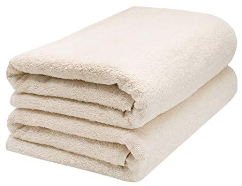 ZOLLNER 2 Asciugamani per la Sauna, Crema, 70x200 cm, Cotone, Tanti Colori