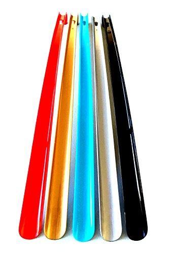HAC24 5er Set Schuhanziehhilfe mit Haken extra lang Schuhlöffel 60 cm Schuhanzieher