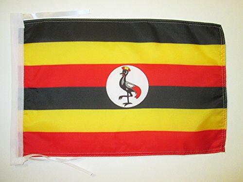 AZ FLAG Flagge Uganda 45x30cm mit Kordel - UGANDISCHE Fahne 30 x 45 cm - flaggen Top Qualität