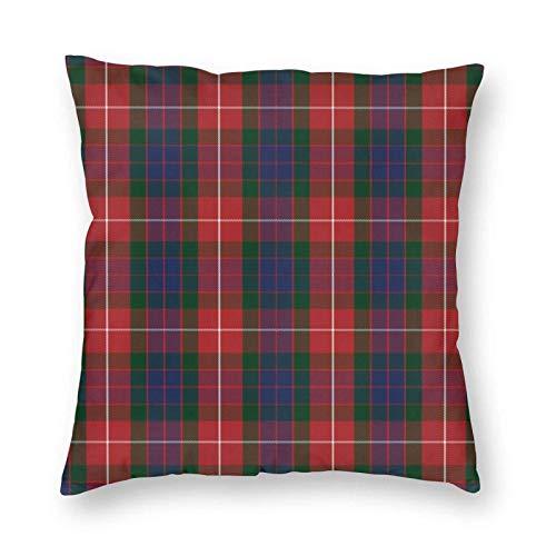 QUEMIN Fraser - Funda de cojín cuadrada para sofá, dormitorio, coche, 45 x 45 cm, color rojo