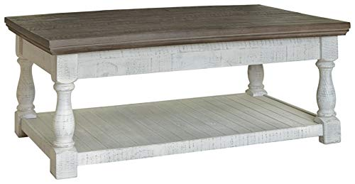 Signature Design by Ashley Havalance Lift Top Cocktail Table, Gray/White