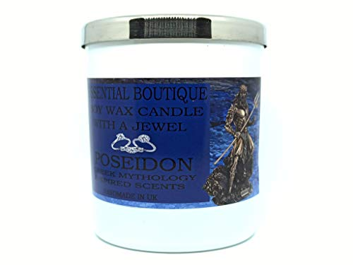 POSEIDON Candle with a jewel Inside Essential Boutique Imperial Gods Scent