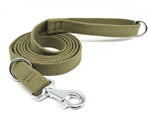 Hoanan 6ft Heavy Duty Tactical Dog Leash, Military Style Thick Nylon Strong K9 Dog Leash for Outdoor Walking Hunting Hiking, Coyote Brown