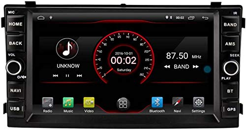 """BJYG Autosion 7""""Android 10 Navegación por Radio estéreo para automóvil para Kia Ceed Venga 2007 2008 2009 Dab Multimedia GPS WiFi USB Bluetooth Unidad Principal Carplay Control del Vol"""
