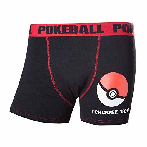 Pokemon Pokeball Boxer Shorts (X-Large, zwart)
