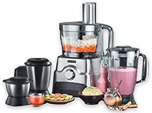 Many Tasks One Master- 12 Different Applications 100% Copper Motor For any issue contact 1800 1033 111 3 Impact Resistant Jars and 1 Food Processing Bowl Technical Specification: Wattage - 1000 W ; Voltage - 230 V ; Frequency - 50 Hz Both Citrus and ...
