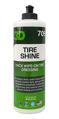 3D Tire Shine 16oz | Zwarte banden | Beschermt en gepolijst banden | Op waterbasis