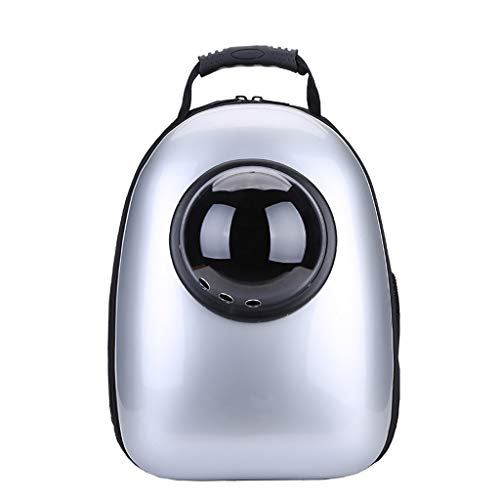 YT- Pet Backpack Supplies Best Portable Travel Bubble Capsule Space Backpack Carrier for Small Dogs and Cat Pet Bag (Color : Silver)